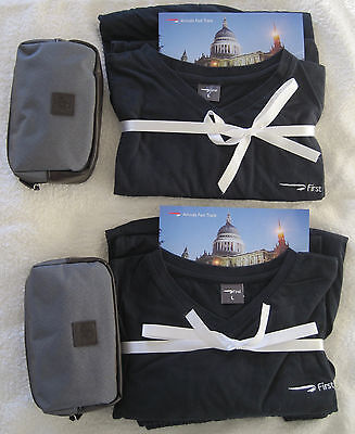 British Airways First Class Male Amenity Kits 2 and Pyjamas 2 – New and unused