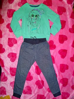 Next Outfit 6-7 Years L/s Sweatshirt Jumper Top And Slim Fit Joggers