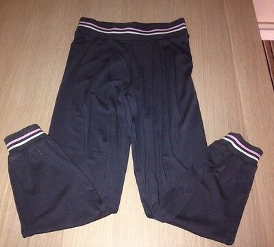 Girls Jogging Bottoms Age 8-9 Years.  Children's Grey Casual Tracksuit Bottoms