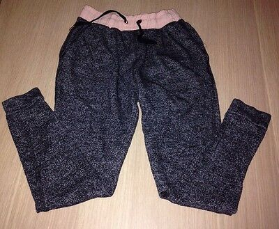 Girls Jogging Bottoms Age 8-9 Years.  Children's Black Tracksuit Bottoms