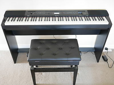 Casio Privia PX350 M stage piano/keyboard including matching stand and stool