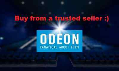 4 x Odeon Cinema Tickets (Adult/Child) Voucher Issued in within the hour. Cheap