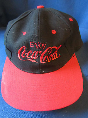 Coca Cola Baseball Cap...black & Red...slightly Used...ex Cond!!