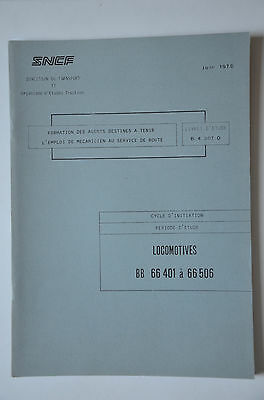 Chemins de Fer - Ancien document 1978 - Locomotives BB66400