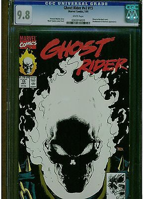 Ghost Riders #15 Cgc 9.8 1St Printing 1991 Glow In The Dark Cover Mark Texeira
