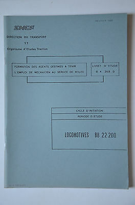 Chemins de Fer - Ancien document 1986 - Locomotives BB22200