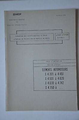 Chemins de Fer - Ancien document 1984 - Eléments automoteurs X4300
