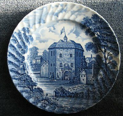 Attractive Royal Essex ironstone 8 inch plate of Shakespeares globe theatre