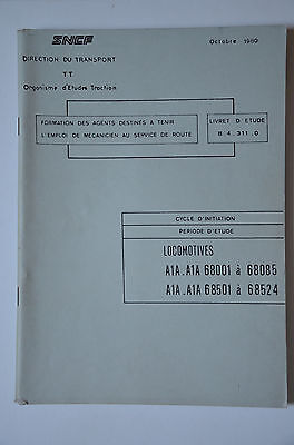 Chemins de Fer - Ancien document 1980 - Locomotives A1A A1A 68000