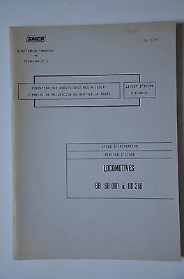 Chemins de Fer - Ancien document 1978 - Locomotives BB66000