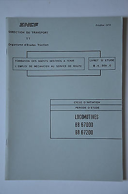 Chemins de Fer - Ancien document 1979 - Locomotives BB67000