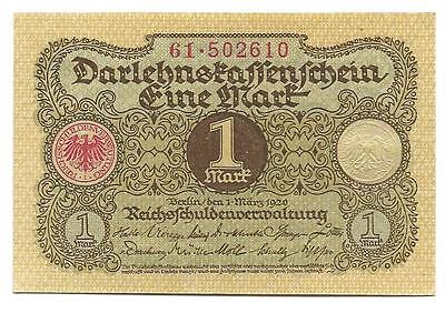 1 Mark Germany Reic banknote,ND(1920), aUNC-UNC