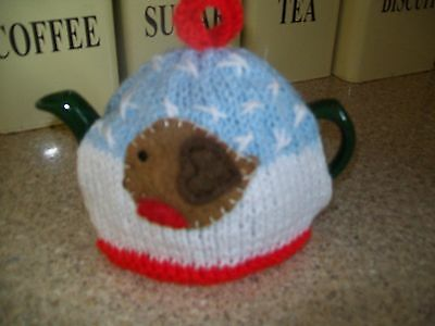 Hand Knitted Robin Tea Cosy Small Teapot