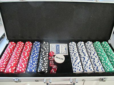 Dice Poker Chips Set - Poker Set in Case