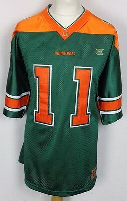 #11 Miami Hurricanes American Football Jersey Mens Large Colosseum Athletics