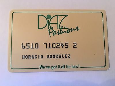 Vintage Retail Charge Credit Card M53 House of Diaz Fashions