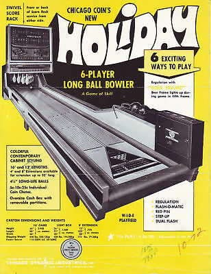 Chicago Coin Holiday Shuffle Alley Flyer Brochure 1972