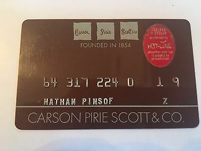 Vintage Retail Charge Credit Card M53 Carson Pirie Scott