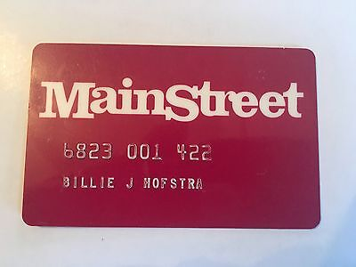 Vintage Retail Charge Credit Card M53 Main Street