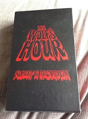 Robert McCammon The Wolfs Hour Signed Overlook Edition No 72