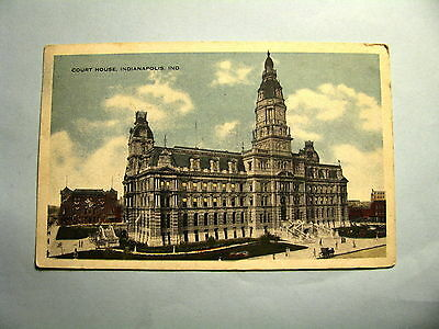 395 Vintage 1917 Court House Indianapolis Indiana Postcard