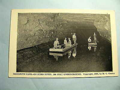 399 RPPC Mammoth On Cave Echo River Kentucky Postcard