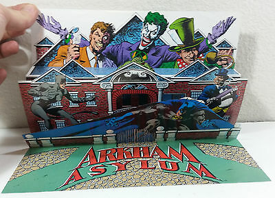 Batman Arkham Asylum's Dishonor Roll 3-D Fold Out Pop Up Promo Poster 1992 VF/NM