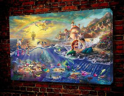 "Oil Painting Print On Canvas Modern Wall Art landscape The Little Mermaid16""x12"""