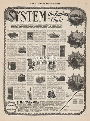 1903 SYSTEM Office Furniture Business Supplies Equipment Vinatge Print Ad