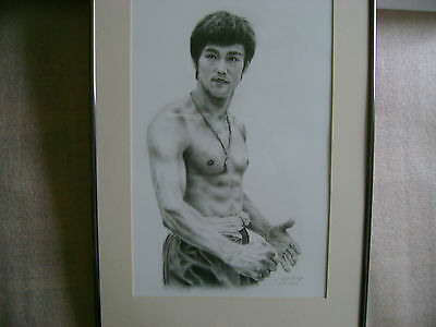 An Original  Khufu Master Bruce Lee Pastel Painting By Seller  Vi-Nghi