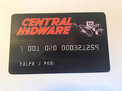 Vintage Retail Charge Credit Card M53 Central Hardware