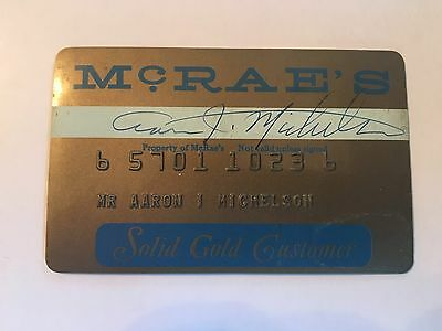 Vintage Retail Charge Credit Card M53 McRae's