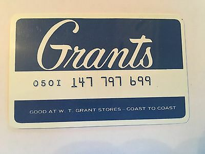 Vintage Retail Charge Credit Card M53 Grants