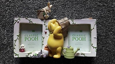 Winnie The Pooh double photo frame by Pepperpot - New