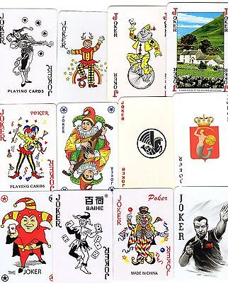 """24 Different """"Old & New Superb"""" JOKER Playing Cards"""