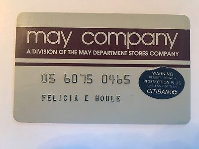 Vintage Retail Charge Credit Card M53 May Company