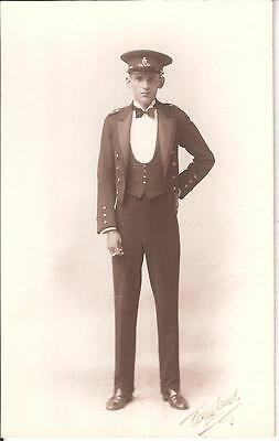 Plain backed postcard of an unidentified soldier of Royal Artillery