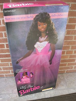 "1992 Original 36"" My Size Barbie African American Doll New In Box"