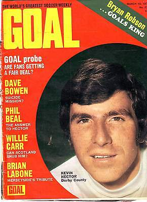 Goal!  Football Mag.10 Mar 1973 Everton, Liverpool Etc