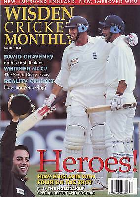 WISDEN CRICKET MONTHLY JULY 1997 VGC. Ft  HOLLIOAKE BROTHERS VGC