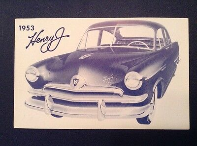 1953 Kaiser Henry J Postcard Original Unused Vintage