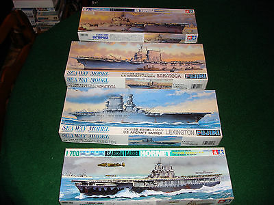 1/700th scale American Aircraft Carriers 4 Different Carriers