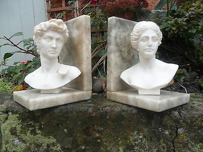 Pair Of Book Ends Vintage Hand Carved