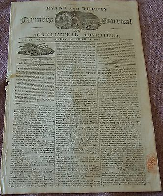 Copy of the Farmers Journal, 1812