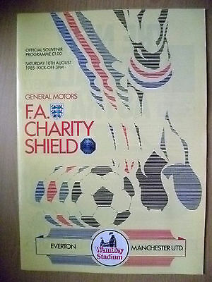 Programme FA Charity Shield- EVERTON v MANCHESTER UNITED
