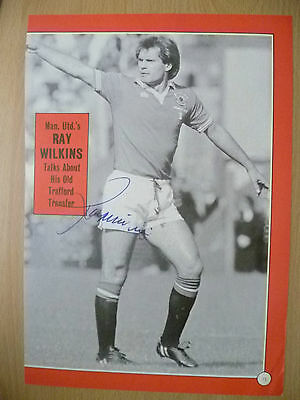 Original Hand Signed Press Cutting- RAY WILKINS, Manchester United FC