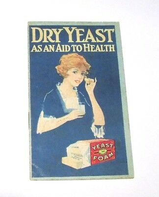 Dry Yeast As An Aid To Health - 1921 Northwestern Yeast Co. Yeast Foam Booklet