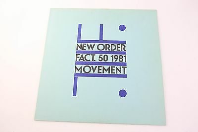 New Order Movement LP Factory prima stampa