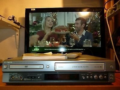 VIDEOREGISTRATORE AIWA HV-DH1EH Combo DVD PLAYER STEREO VIDEO CASSETTE RECORDER