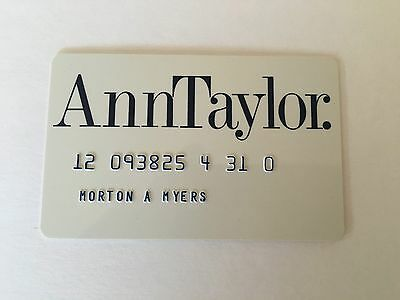 Vintage Retail Charge Credit Card R13 Ann Taylor